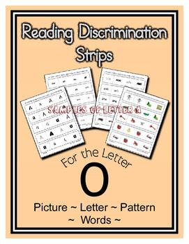 Letter O Reading Discrimination Strips for Fluency and Alp