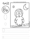Letter O Trace and Write Worksheet Pack