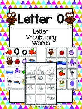 words with the letter o letter o vocabulary cards by the tutu teachers 25769 | original 2155418 1