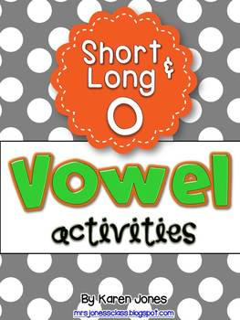 Vowel Activities for Short O and Long O