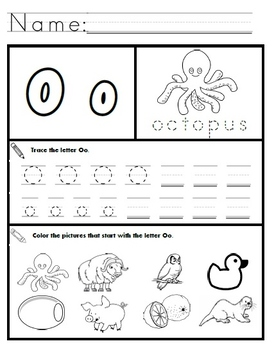 letter o worksheets for pre k | mamiihondenk.org