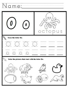 Letter O Worksheets! by Kindergarten Swag | Teachers Pay Teachers