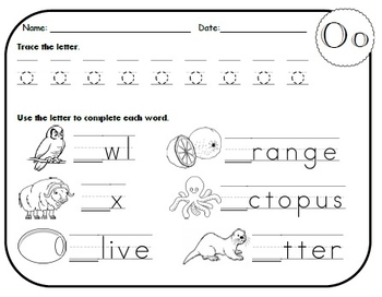 Letter O Worksheets! by Kindergarten Swag | Teachers Pay Teachers