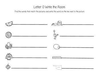 Letter O Write the Room
