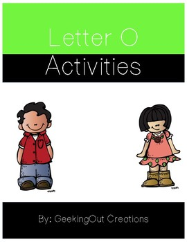 Letter O from the Alphabet Mega Bundle/Letter of the Week