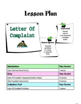 Letter of complaint lesson by sunny side up resources tpt letter of complaint lesson spiritdancerdesigns Images