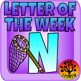 Letter Of The Week, Letter N, Alphabet Centers, Literacy, Math
