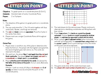 Letter On Point - 5th Grade Game [CCSS 5.G.A.1]