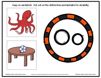 Letter Oo Beginning Sound Picture Web Activity