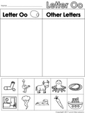 Letter Oo Beginning Sound Sort/Phonemic Awareness