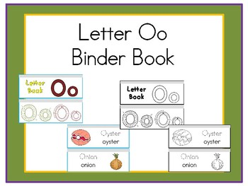 Letter Oo Binder Book