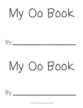 Letter Oo Book