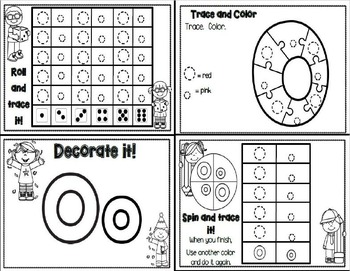Letter Oo- Interactive Activites Booklet