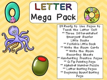 Letter Oo Mega Pack- Kindergarten Alphabet- Handwriting, L