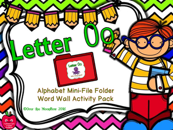Letter Oo Mini-File Folder Word Wall Activity Pack