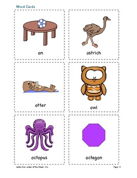 Letter Oo (O is for Ocean): Letter Zoo- Preschool Curriculum