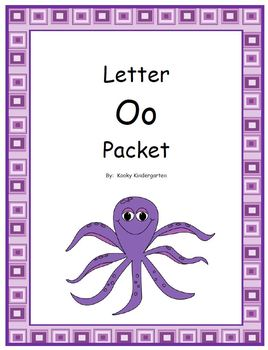 Letter Oo Phonics and Writing Pack
