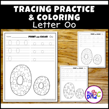Letter Oo Printing and Pattern Coloring Worksheets