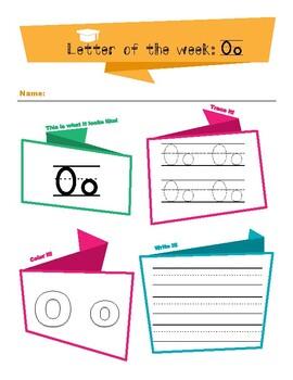 Letter Oo Tracing Worksheet