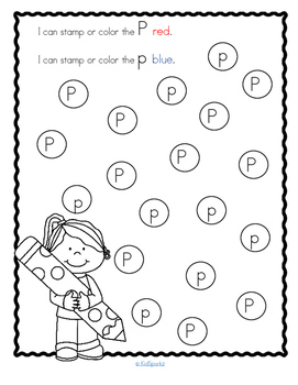 Letter P Recognition, Sound, Tracing and Craftivities