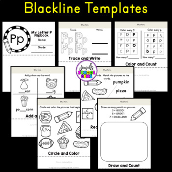 Letter P Alphabet Flip Book (Alphabet Interactive Notebook Activities)