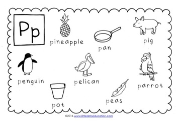 Letter P Activities and Worksheets