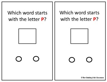 Letter 'P' Adapted Book