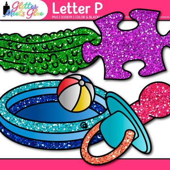 Letter P Alphabet Clip Art {Teach Phonics, Recognition, and Identification}