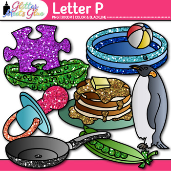 Letter P Alphabet Clip Art | Teach Phonics, Recognition, and Identification