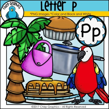 Letter P Alphabet Clip Art Set - Chirp Graphics