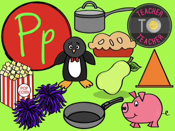 Letter P - Alphabet Clipart {TeacherToTeacher Clipart}