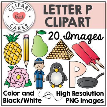 Letter P Alphabet Clipart by Clipart That Cares