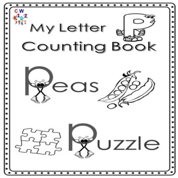 Letter 'P' Alphabet Counting Book
