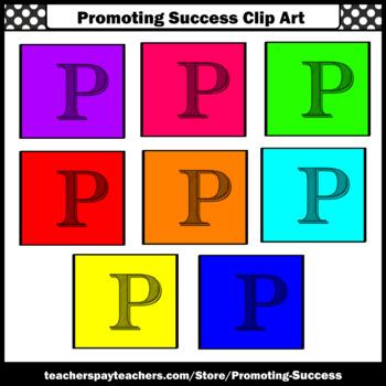 Alphabet Letter P Clipart, Beginning Sounds Clip Art SPS
