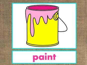 Letter P Alphabet PowerPoint Fun & Colorful Words w/Pictures (Expandable)