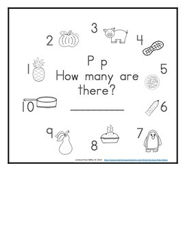 Letter P Counting Books