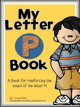 Letter P Book of Beginning Sounds-Emergent Reader w/Running Record-CCSS Aligned