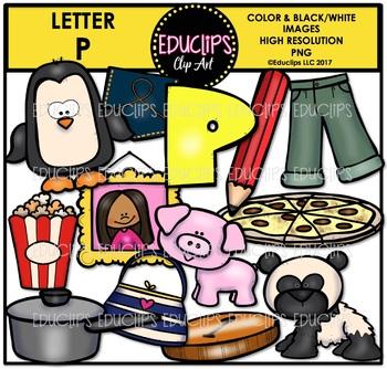 Letter P Clip Art Bundle {Educlips Clipart}
