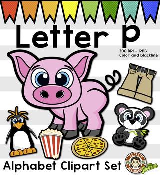 Alphabet Clip Art: Letter P Phonics Clipart Set - Clip Art