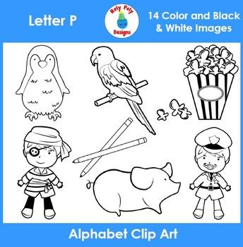 Letter P Clip Art Set