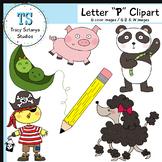 "Letter ""P"" Clipart Set {Tracy Sztanya Studios}"