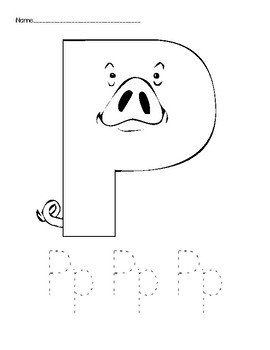 Letter P Coloring Page