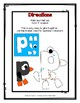 Letter P Craftivity - Penguin - Zoo Phonics Inspired - Color & BW Versions