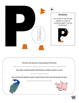Letter P Cutout Craft
