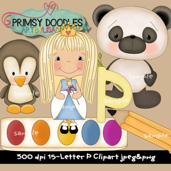 Letter P Early Learning Clipart
