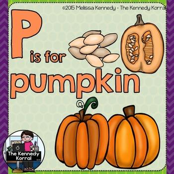 Letter P is for Pumpkin {Halloween}