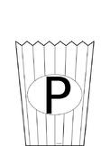 Letter P Popcorn Craft