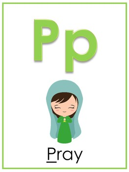 photograph about Letter P Printable identified as Letter P Printable Bible Alphabet Poster. Preschool-Kindergarten Phonics.
