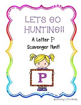 Letter P Scavenger Hunt