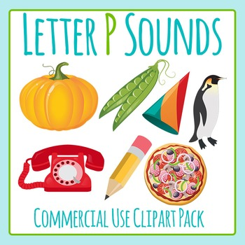 Letter P Sounds Clip Art Pack for Commercial Uses
